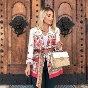 Rare Blogger Favorite!!! ZARA Floral Print Blazer